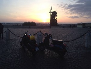 During the Sunrise show, on the Janiculum hill