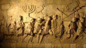 The Menorah brought in Rome, in the decorations of the Arch of Titus