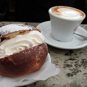 Our deserved Maritozzo and Cappuccino