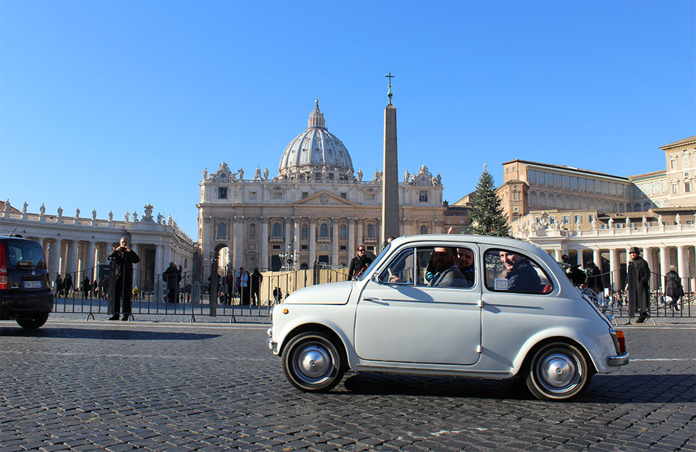 Fiat 500 Guided Tour Of Rome