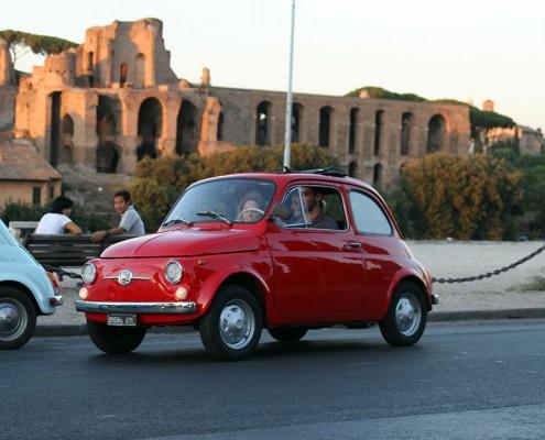 Tour di Roma in fiat 500